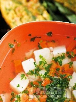 Картофена чорба с киселец на баба - снимка на рецептата